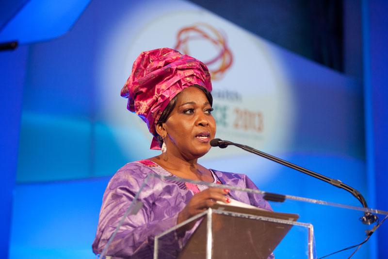 Madam Ngema Zuma introduces the award