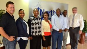 From left to right: Michael Becker (North Star), Ms Tuki Matsaneng (MSH), Dr Ityai Muvandi (SADC), Dr Doreen Sanje (SADC), Mr Taurai Matione (SADC), Mr Bright Chiranga (MSH), Paul Matthew (North Star)