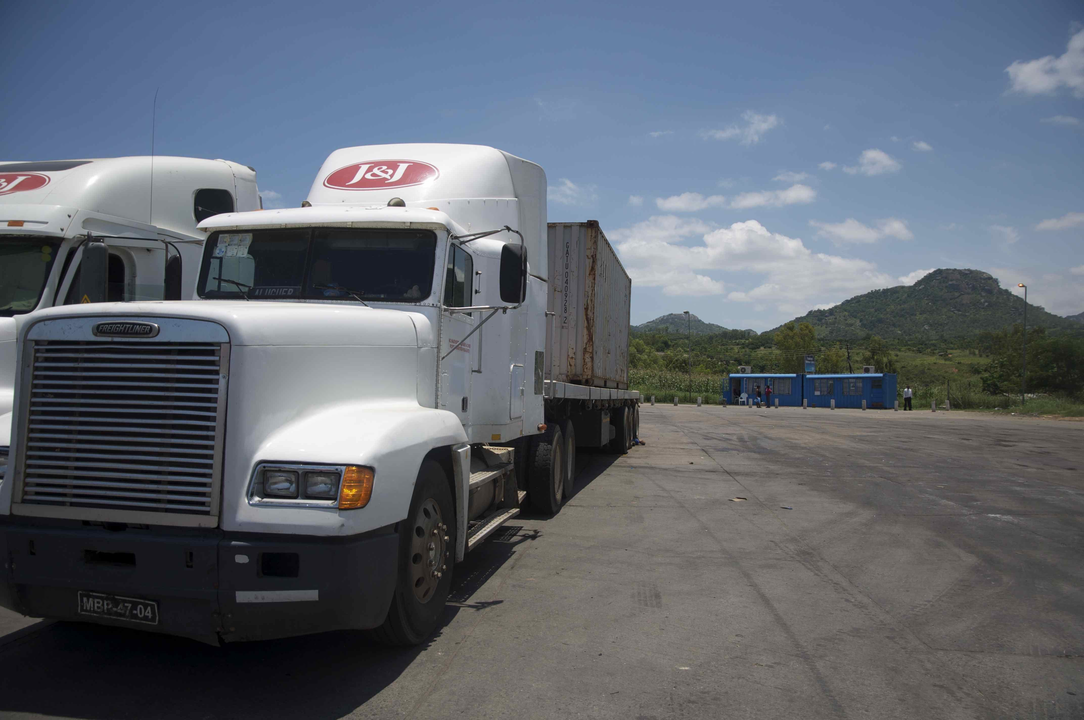 Truck parked at North Star Alliance Mwanza Clinic in Malawi